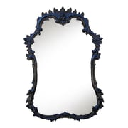 Charlton Home Accent Wall Mirror; Gloss Black