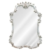 Charlton Home Accent Wall Mirror; Old World White