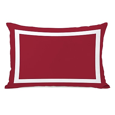 Charlton Home Alleyton Simple Lumbar Pillow; Chili Pepper Red