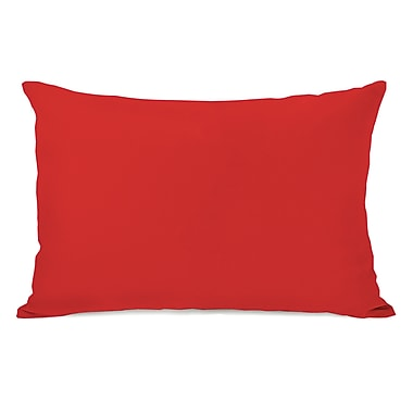 Charlton Home Benbrook Solid Throw Pillow; Rocket Red