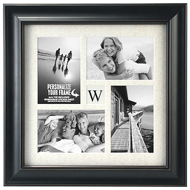 Charlton Home Vaughan 4 Opening Hanging Picture Frame; Black
