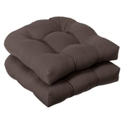 Charlton Home Tadley Outdoor Dining Chair Cushion (Set of 2); Brown Solid