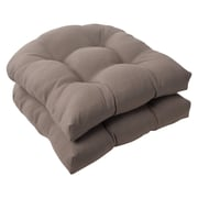 Charlton Home Tadley Outdoor Dining Chair Cushion (Set of 2); Taupe