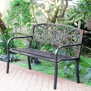 Charlton Home Fulmer Steel Park Bench