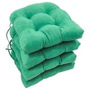 Charlton Home Abbottsmoor Dining Chair Cushion (Set of 4); Emerald