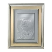 Charlton Home Brushed Gold Inner Panel Metal Picture Frame; 5'' x 7''