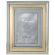 Charlton Home Brushed Gold Inner Panel Metal Picture Frame; 8'' x 10''