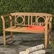 Charlton Home Brinwood 2 Seat Acacia Garden Bench; Teak