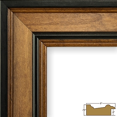 Charlton Home 2'' Wide Wood Grain Picture Frame; 20'' x 27''