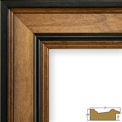 Charlton Home 2'' Wide Wood Grain Picture Frame; 14'' x 18''
