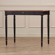 Charlton Home Carlisle Writing Desk; Cherry / Black