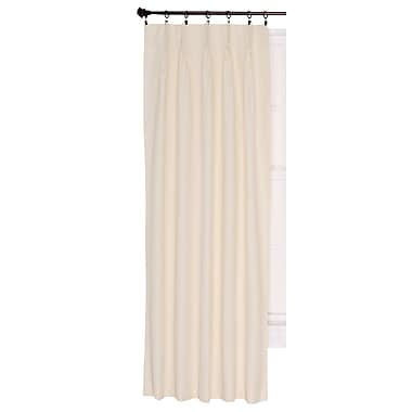 Charlton Home Manchester Thermal Single Curtain Panel; Natural