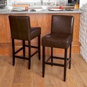 Charlton Home 29'' Bar Stool (Set of 2); Brown