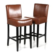 Charlton Home 29'' Bar Stool (Set of 2); Hazelnut