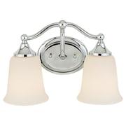 Charlton Home Morton 2-Light Vanity Light; Chrome