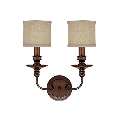 Charlton Home Osborne 2-Light Wall Sconce