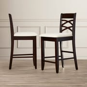 Charlton Home Apple Valley 24'' Bar Stool (Set of 2)