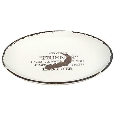 Charlton Home 9'' Round White Dinner Plate