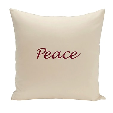 Charlton Home Drennen Peace Throw Pillow; 20'' H x 20'' W