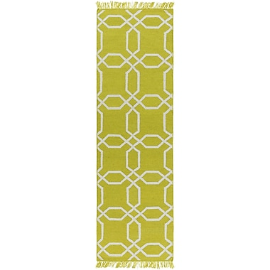 Charlton Home Larksville Hand-Woven Green Outdoor Area Rug; 3'6'' x 5'6''