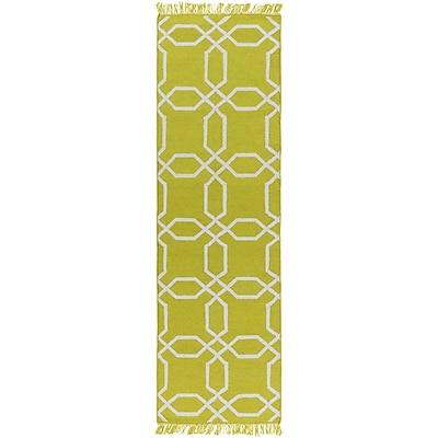 Charlton Home Larksville Hand-Woven Green Outdoor Area Rug; 2' x 3'