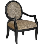 Charlton Home Lucinda Leopard Fabric Arm Chair