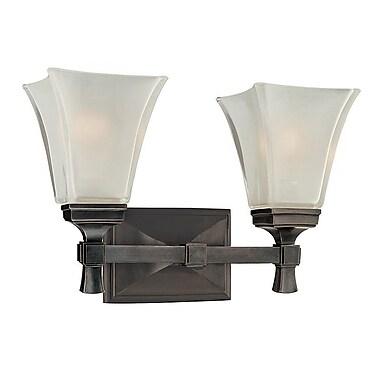 Charlton Home Bader 2-Light Vanity Light; Old Bronze