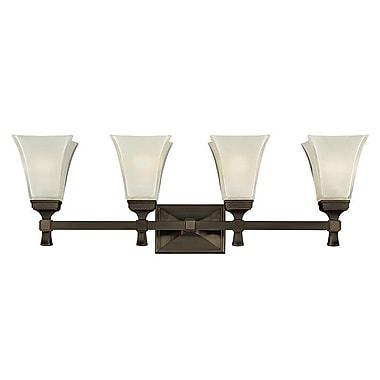 Charlton Home Bader 4-Light Vanity Light; Old Bronze