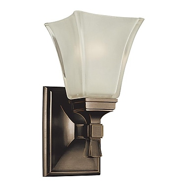 Charlton Home Bader 1-Light Wall Sconce; Old Bronze
