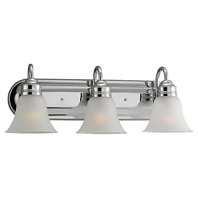 Charlton Home Roddin 3-Light Vanity Light; Chrome