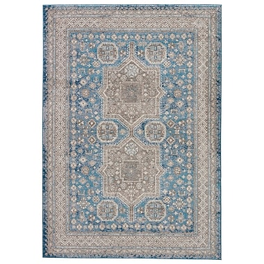 Charlton Home Thebes Blue Area Rug; 5' x 8'