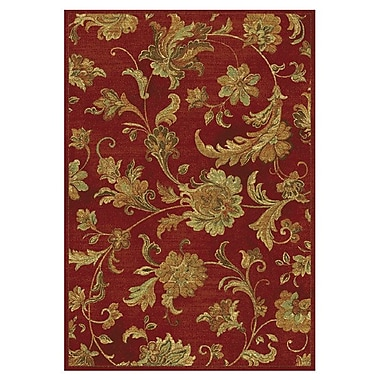 Charlton Home Bluff Canyon Cherry Aegean Scroll Area Rug; 5'3'' x 7'7''