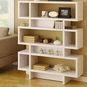 Corrigan Studio Calvert 53'' Accent Shelves Bookcase; Matte White