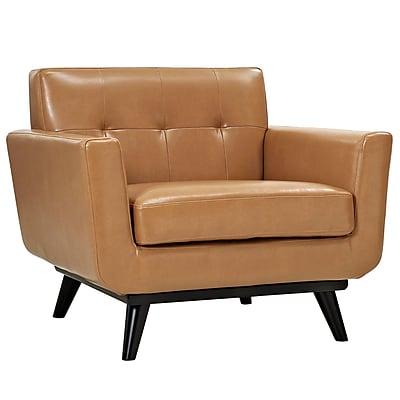 Corrigan Studio Saginaw Leather Arm Chair; Tan