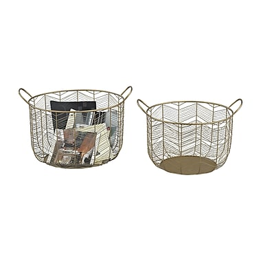 Corrigan Studio Crosshill 2 Piece Basket Set