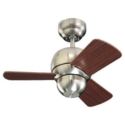 Corrigan Studio 24'' Thatcher 3 Blade Fan; Brushed Steel