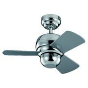 Corrigan Studio 24'' Thatcher 3 Blade Fan; Polished Nickel