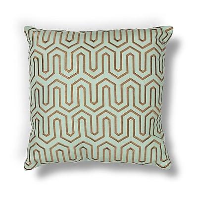 Corrigan Studio Addington Point Lumbar Pillow; Seafoam / Chocolate