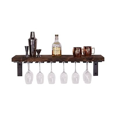 DelHutsonDesigns Wall Mounted Wine Glass Rack