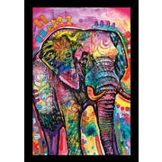 Frame USA 'Elephant Poster' by Dean Russo Framed Graphic Art
