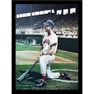 'Ted Williams Boston Red Sox Legendary MLB Player Getting Ready to Bat' Framed Memorabilia