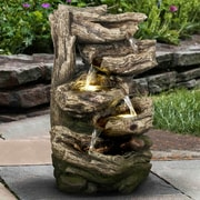 Hi-Line Gift Ltd. Resin Multi Level Branches Fountain w/ LED Light