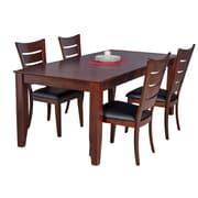 TTPFurnish Charlotte 5 Piece Dining Set