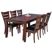 TTPFurnish Charlotte 7 Piece Dining Set