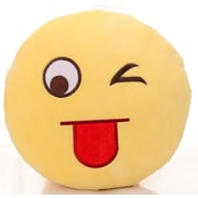 BH Home Naughty Face Plush Expression Emoji Throw Pillow