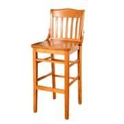 Benkel Seating Schoolhouse 43.5'' Bar Stool; Walnut