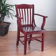 Benkel Seating Schoolhouse Arm Chair; Mahogany