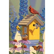 The Cranford Group Bluebirds and Birdhouse Garden Flag