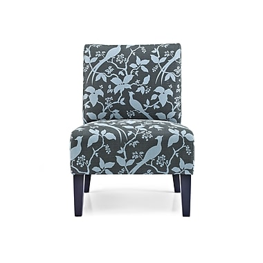 Charlton Home Sitka Slipper Chair; Floral Teal