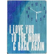 Artehouse LLC To the Moon & Back Wall Clock
